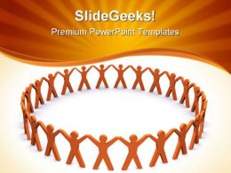 Teamwork01 Leadership PowerPoint Templates And PowerPoint Backgrounds 0811