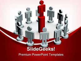 Teamwork02 Leadership PowerPoint Templates And PowerPoint Backgrounds 0611
