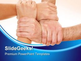 Teamwork03 Handshake PowerPoint Templates And PowerPoint Backgrounds 0811