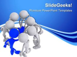 Teamwork07 Leadership PowerPoint Templates And PowerPoint Backgrounds 0811