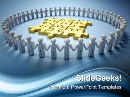 Teamwork And Puzzle Leadership PowerPoint Templates And PowerPoint Backgrounds 0811
