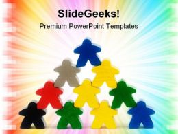Teamwork Business Leadership PowerPoint Templates And PowerPoint Backgrounds 0811