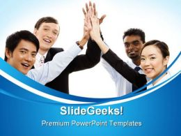 Teamwork Business PowerPoint Templates And PowerPoint Backgrounds 0411