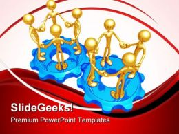 Teamwork Concept Communication PowerPoint Templates And PowerPoint Backgrounds 0811