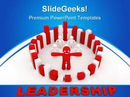 Teamwork Concept Leadership PowerPoint Templates And PowerPoint Backgrounds 0711