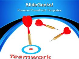 Teamwork Concept With Dart Business PowerPoint Templates And PowerPoint Backgrounds 0811