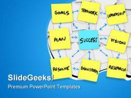 Teamwork Goal Plan Success PowerPoint Templates And PowerPoint Backgrounds 0811