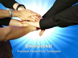 Teamwork Handshake PowerPoint Templates And PowerPoint Backgrounds 0611