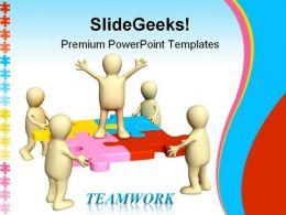 Teamwork Leadership PowerPoint Templates And PowerPoint Backgrounds 0211