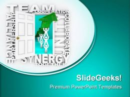 Teamwork Leadership PowerPoint Templates And PowerPoint Backgrounds 0811