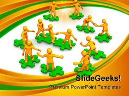 Teamwork Leadership PowerPoint Templates And PowerPoint Backgrounds 0911