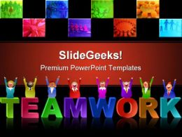 Teamwork People PowerPoint Template 0510