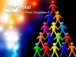 Teamwork People PowerPoint Template 1010