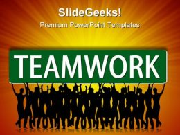 Teamwork People PowerPoint Templates And PowerPoint Backgrounds 0811