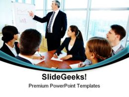 Teamwork Seminar Business PowerPoint Templates And PowerPoint Backgrounds 0811