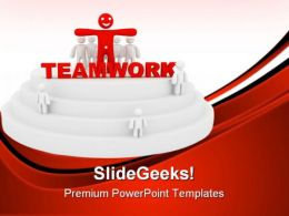 Teamwork Success Business PowerPoint Templates And PowerPoint Backgrounds 0811