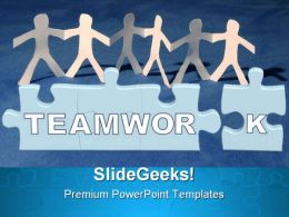 Teamwork Success PowerPoint Templates And PowerPoint Backgrounds 0511