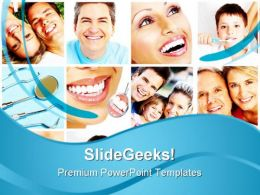 Teeth Collage Health PowerPoint Templates And PowerPoint Backgrounds 0511