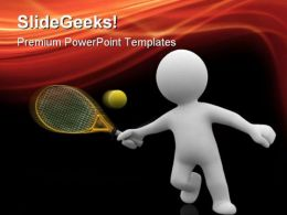 Tennis Sports PowerPoint Templates And PowerPoint Backgrounds 0311