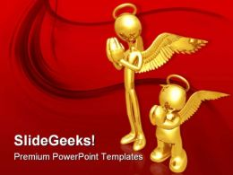The Wannabe Angel Religion PowerPoint Templates And PowerPoint Backgrounds 0811