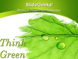 Think Green Nature PowerPoint Template 1110