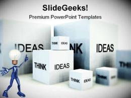 Think Of Ideas Business PowerPoint Templates And PowerPoint Backgrounds 0411