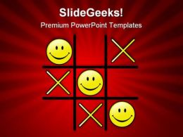 Tic Tac Toe Winning Game PowerPoint Templates And PowerPoint Backgrounds 0811