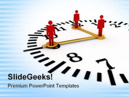 Time And Teamwork Business PowerPoint Templates And PowerPoint Backgrounds 0711