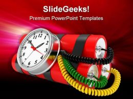 Time Bomb Future PowerPoint Template 1110