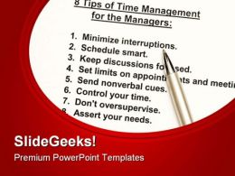 Time Management Business PowerPoint Templates And PowerPoint Backgrounds 0811