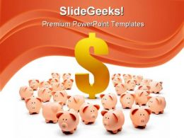 Time To Invest Money PowerPoint Backgrounds And Templates 1210