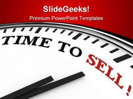 Time To Sell Finance PowerPoint Templates And PowerPoint Backgrounds 0311