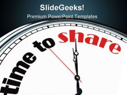 Time To Share Symbol PowerPoint Templates And PowerPoint Backgrounds 0411
