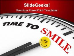 Time To Smile Entertainment PowerPoint Templates And PowerPoint Backgrounds 0311