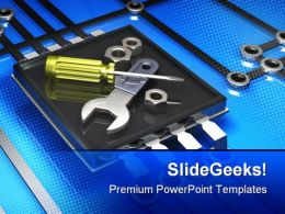 Tools And Microchip Industrial PowerPoint Templates And PowerPoint Backgrounds 0311