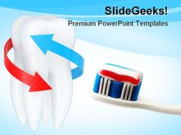 Tooth Brush Medical PowerPoint Backgrounds And Templates 1210