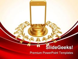 Touch Screen Cell Phone Technology PowerPoint Templates And PowerPoint Backgrounds 0811