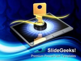 Touch Screen Login Security PowerPoint Templates And PowerPoint Backgrounds 0211