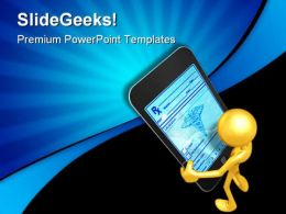 Touch Screen Technology PowerPoint Templates And PowerPoint Backgrounds 0611