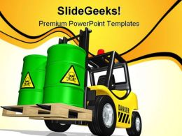 Toxic Waste Truck Transportation PowerPoint Templates And PowerPoint Backgrounds 0411