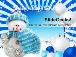 Toy Christmas Snowman Festival PowerPoint Templates And PowerPoint Backgrounds 0311