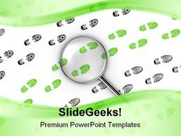 Traces Green Foot Steps Technology PowerPoint Backgrounds And Templates 1210