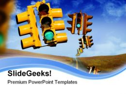 Traffic Lights01 Metaphor PowerPoint Templates And PowerPoint Backgrounds 0811