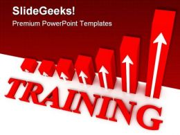 Training Graph Business PowerPoint Template 0910