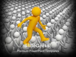Trample Down Heads Business PowerPoint Templates And PowerPoint Backgrounds 0511