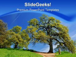 Tree Nature PowerPoint Template 1110