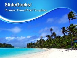 Tropical Beach Nature PowerPoint Backgrounds And Templates 1210