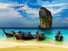 Tropical Beach Thailand Beauty PowerPoint Templates And PowerPoint Backgrounds 0311  Presentation Themes and Graphics Slide01