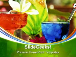 Tropical Drinks Food PowerPoint Templates And PowerPoint Backgrounds 0411