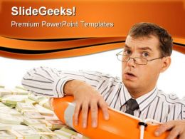 Trouble Man Business PowerPoint Templates And PowerPoint Backgrounds 0511